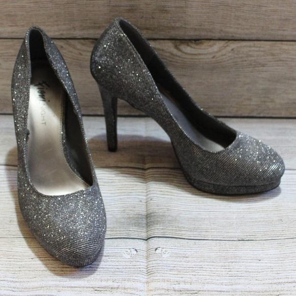 d3942cce23b Fioni Night Silver Metallic Heels